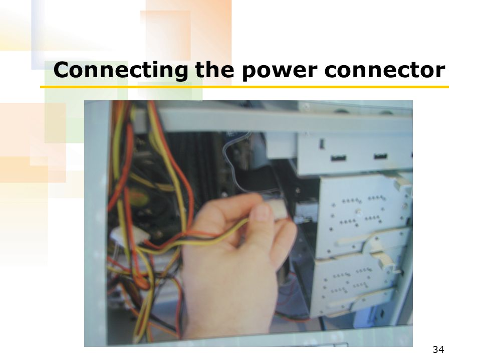Connecting the power connector