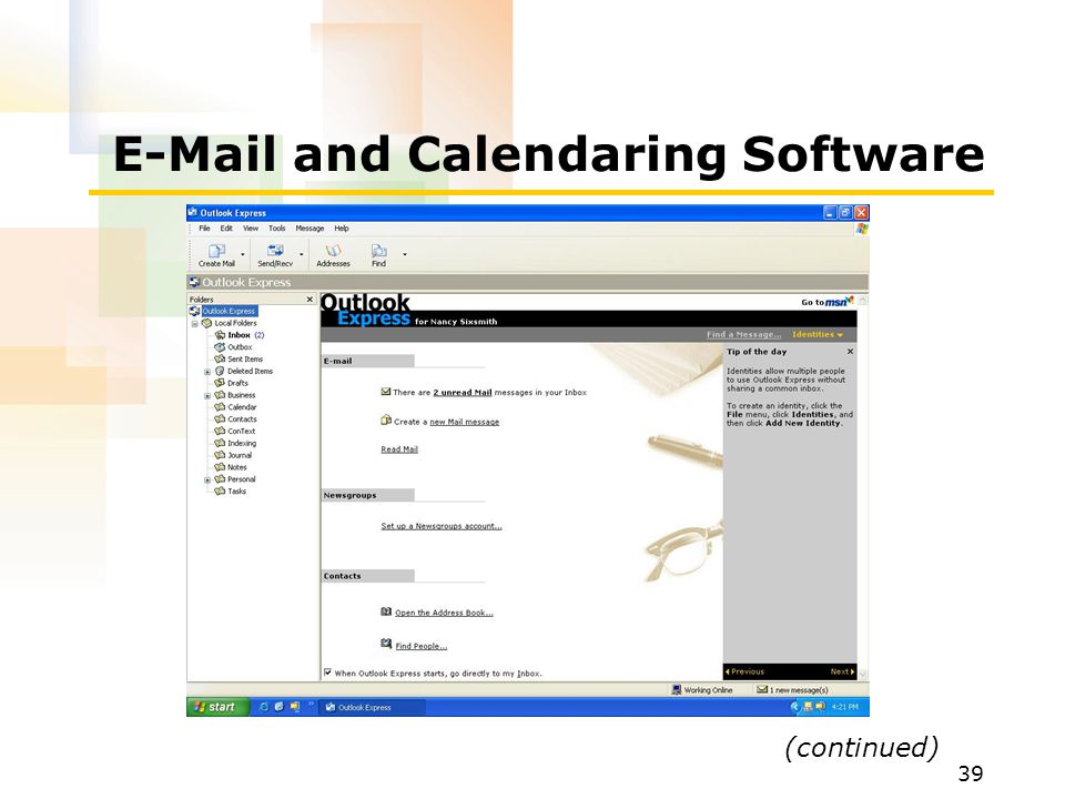 E-Mail and Calendaring Software