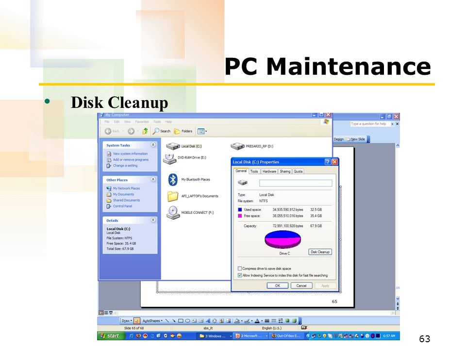 PC Maintenance Disk Cleanup
