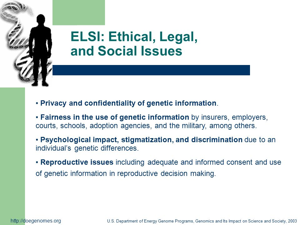 ELSI: Ethical, Legal, and Social Issues