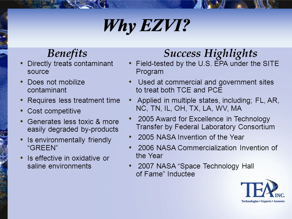 Why EZVI Benefits Success Highlights