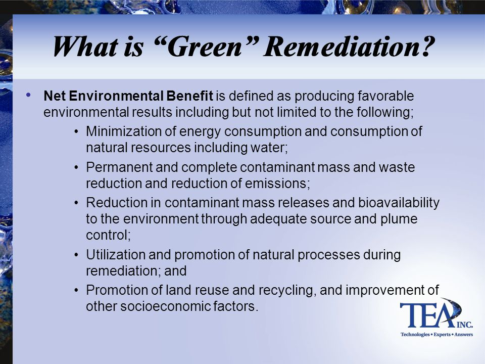 What is Green Remediation