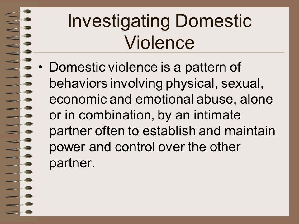 Investigating Domestic Violence