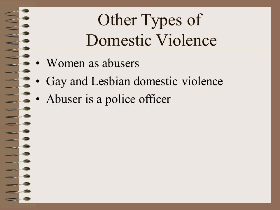 Other Types of Domestic Violence