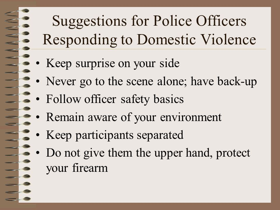 Suggestions for Police Officers Responding to Domestic Violence