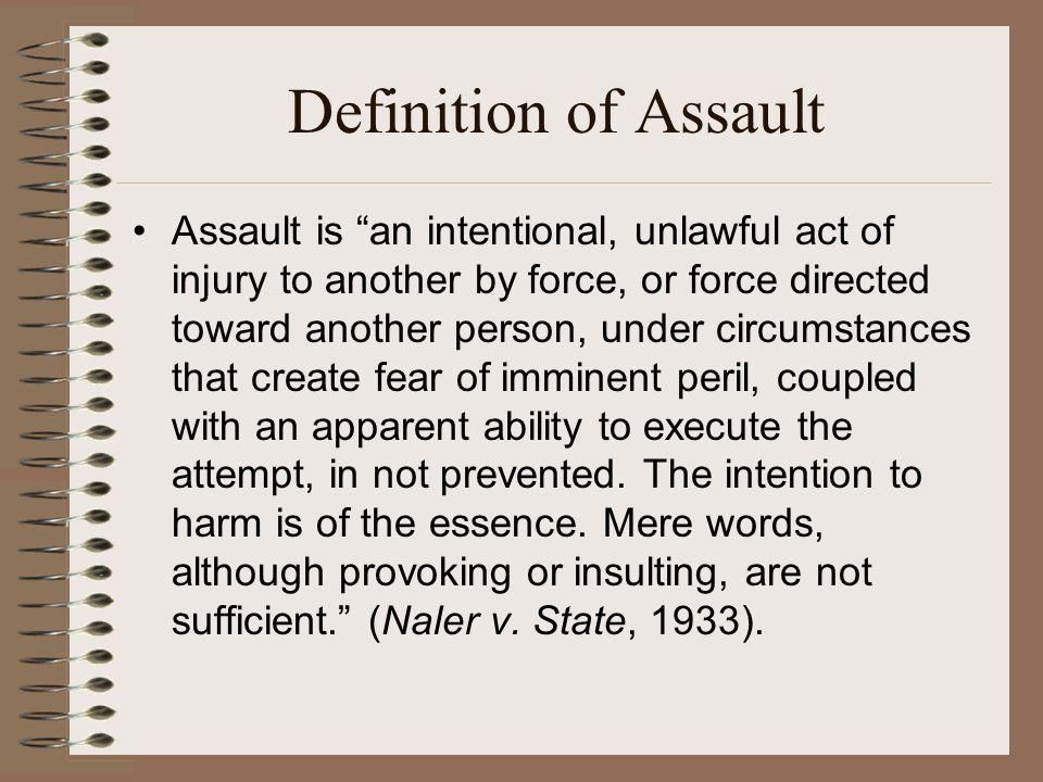 Definition of Assault