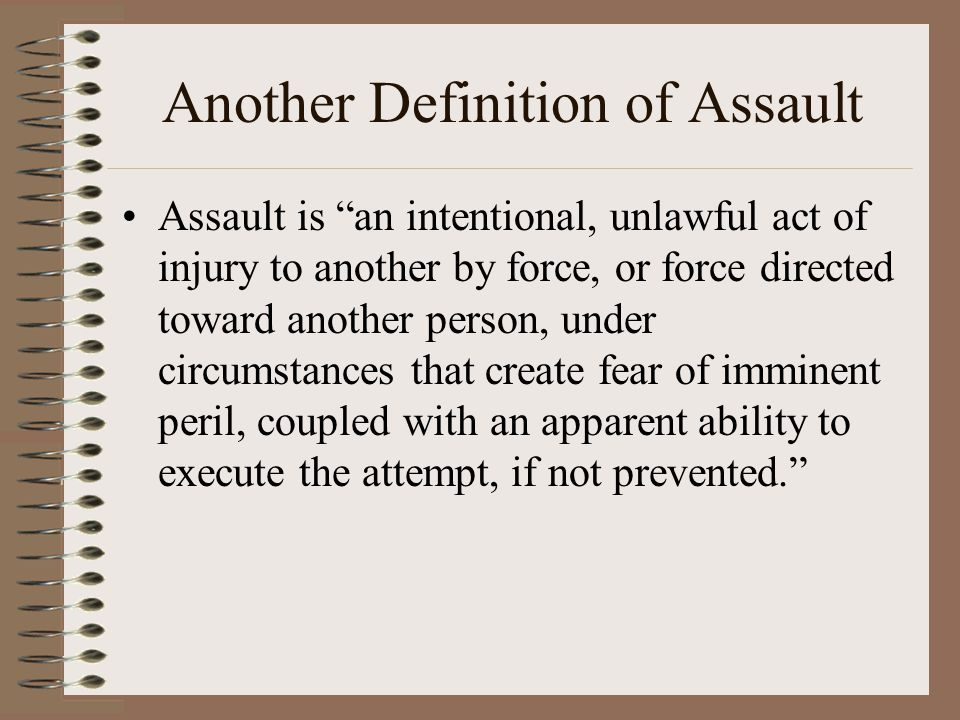 Another Definition of Assault