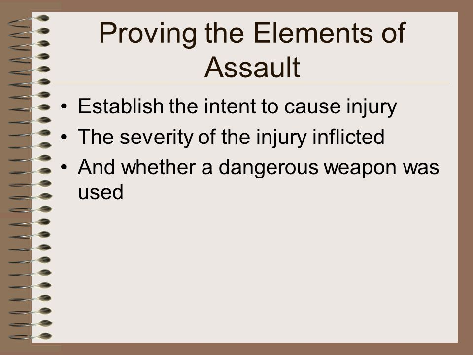 Proving the Elements of Assault
