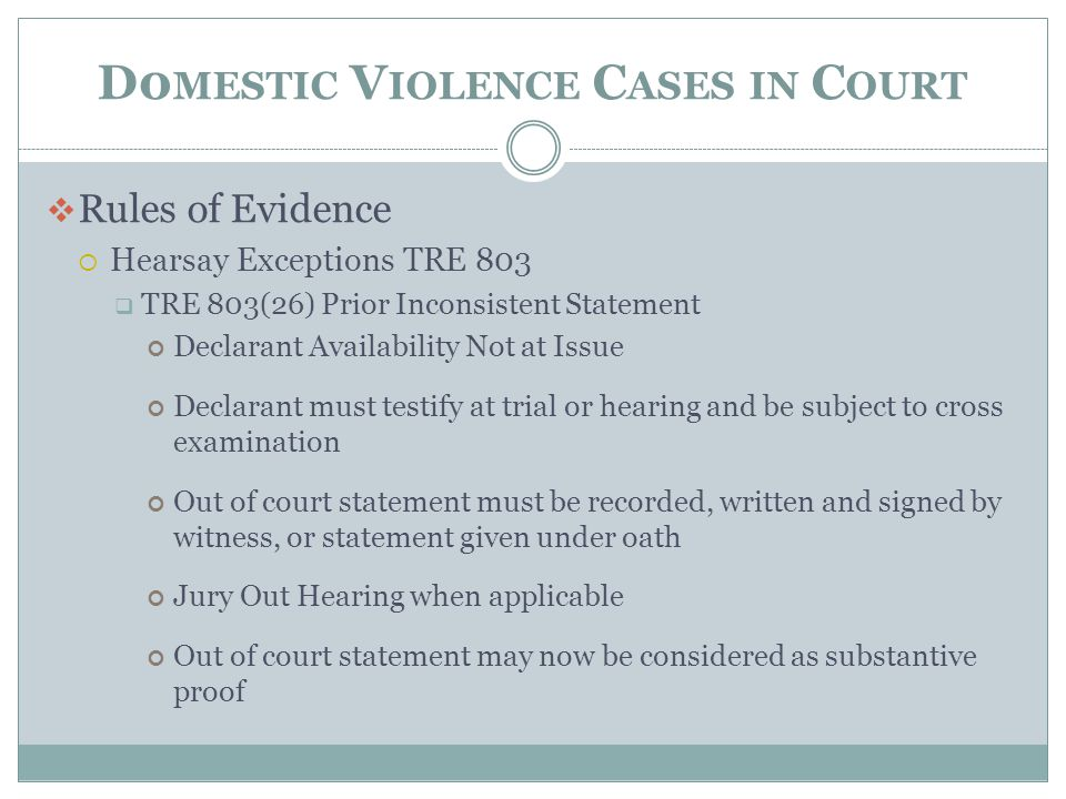 D0mestic Violence Cases in Court