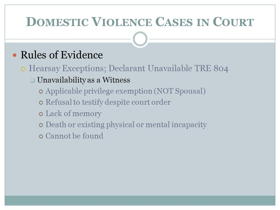 Domestic Violence Cases in Court
