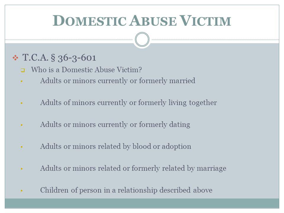 Domestic Abuse Victim T.C.A. § 36-3-601
