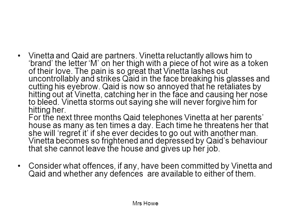 Vinetta and Qaid are partners