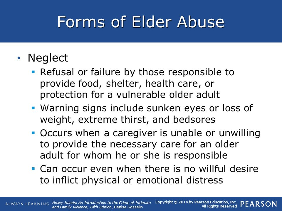 Forms of Elder Abuse Neglect