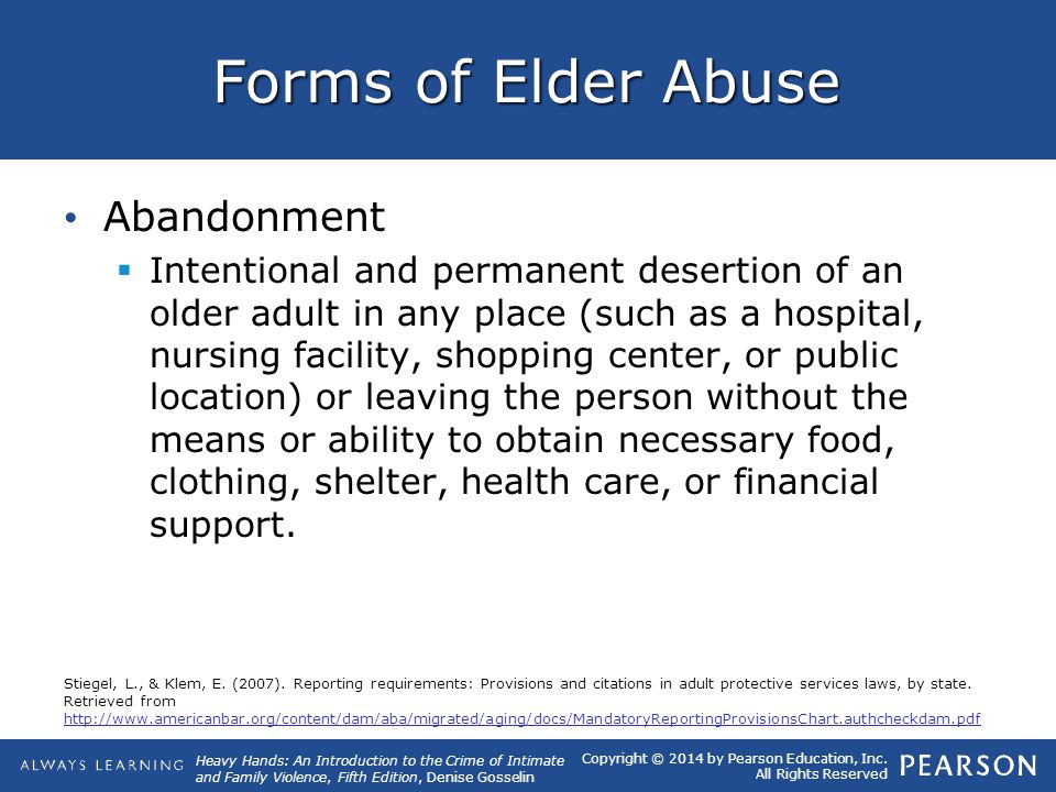 Forms of Elder Abuse Abandonment