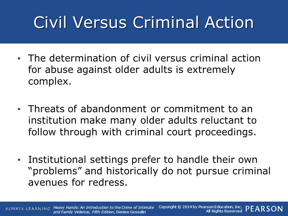 Civil Versus Criminal Action