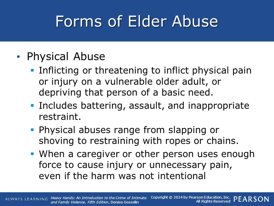 Forms of Elder Abuse Physical Abuse