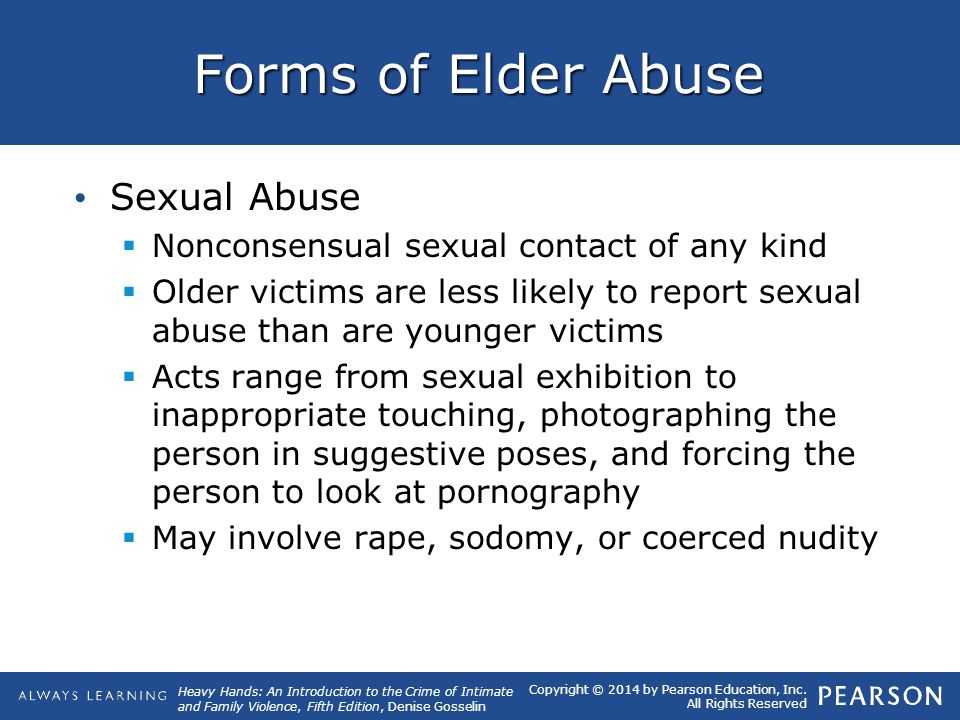 Forms of Elder Abuse Sexual Abuse