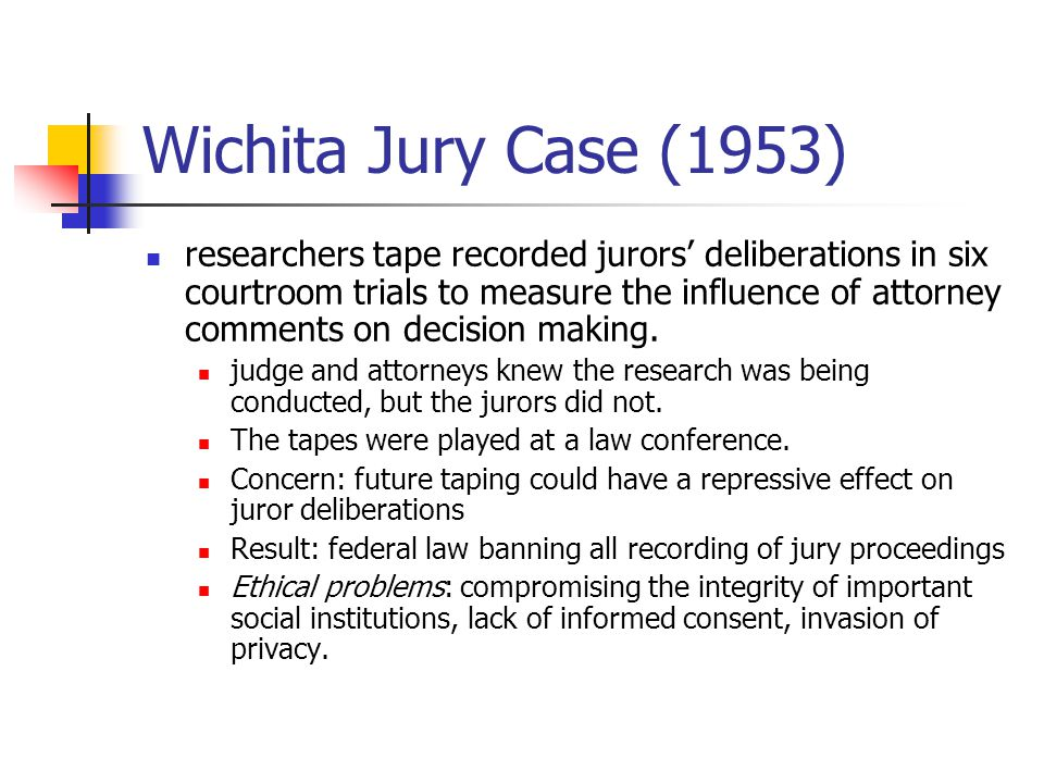 Wichita Jury Case (1953)