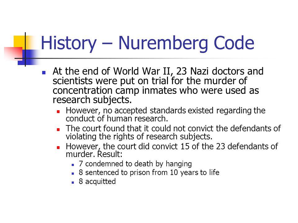 History – Nuremberg Code
