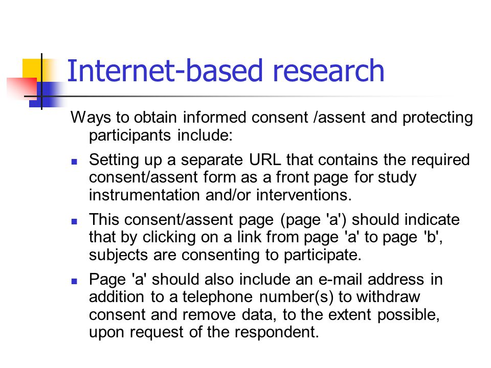 Internet-based research