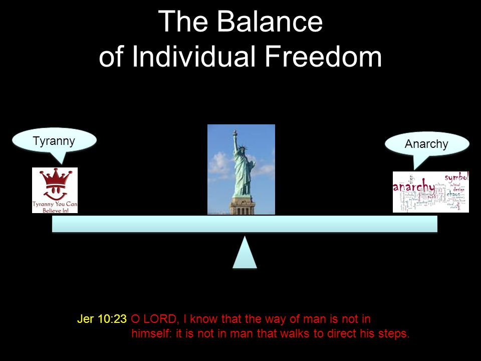 The Balance of Individual Freedom