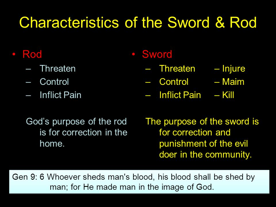 Characteristics of the Sword & Rod