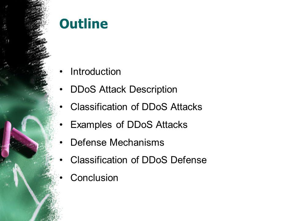 Outline Introduction DDoS Attack Description