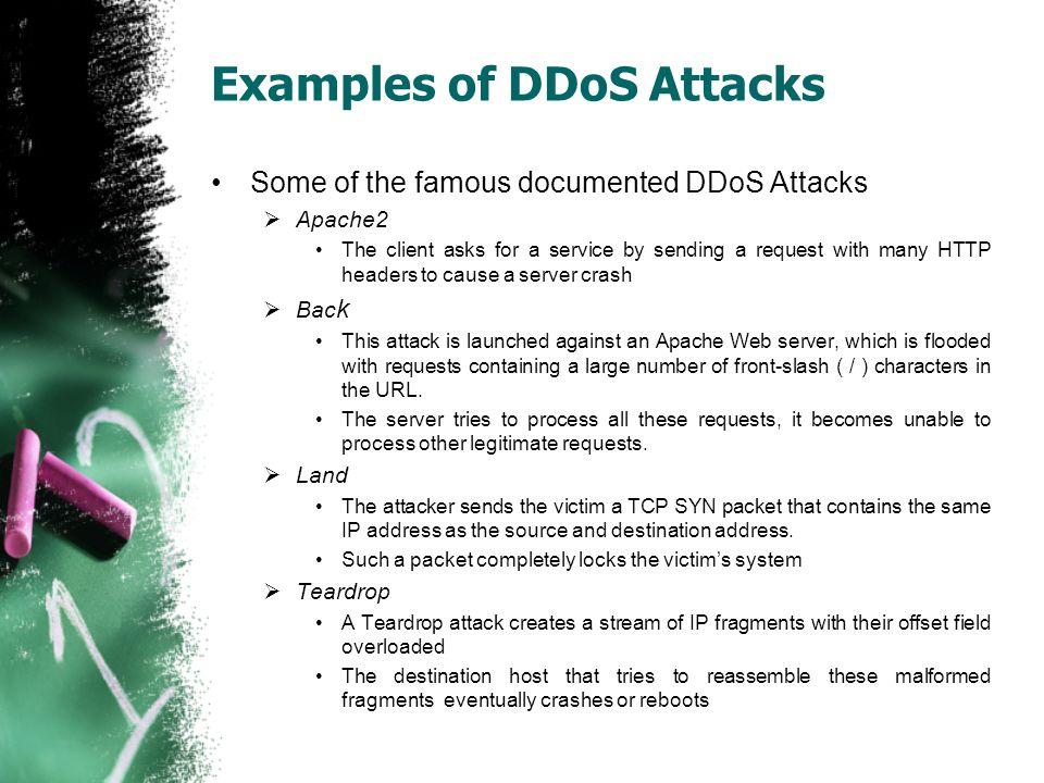 Examples of DDoS Attacks