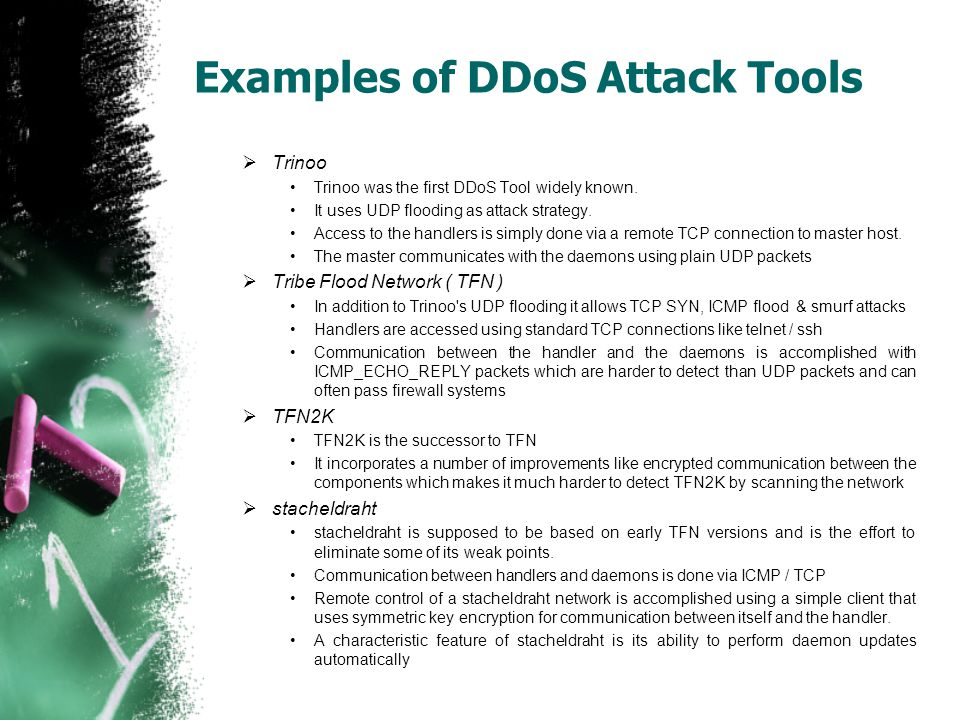Examples of DDoS Attack Tools