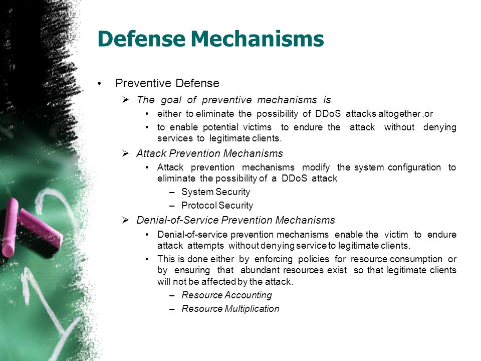 Defense Mechanisms Preventive Defense
