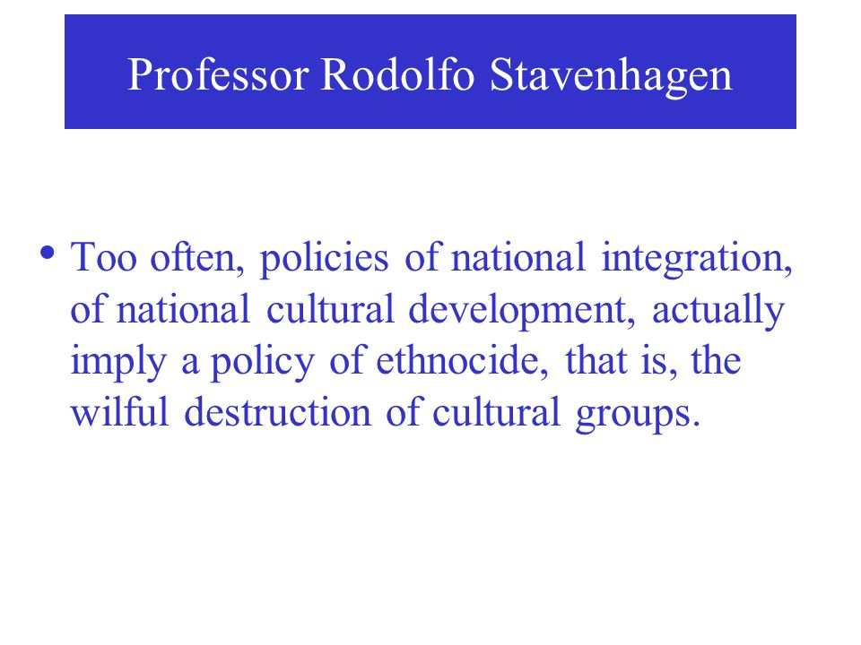 Professor Rodolfo Stavenhagen