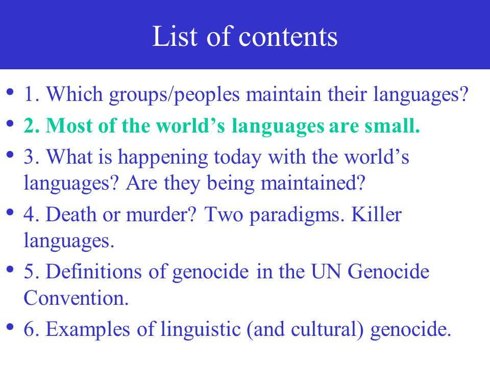 (Linguistic and Cultural) Genocide in Education Signals ...