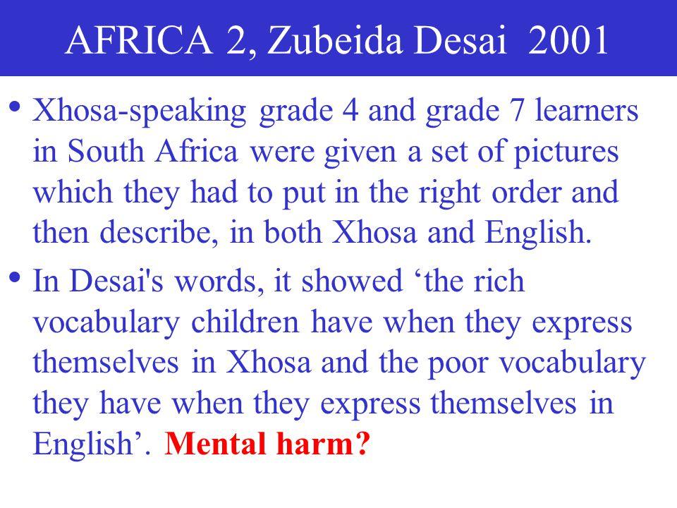AFRICA 2, Zubeida Desai 2001