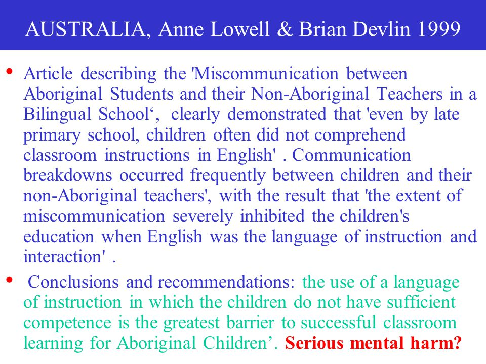 AUSTRALIA, Anne Lowell & Brian Devlin 1999