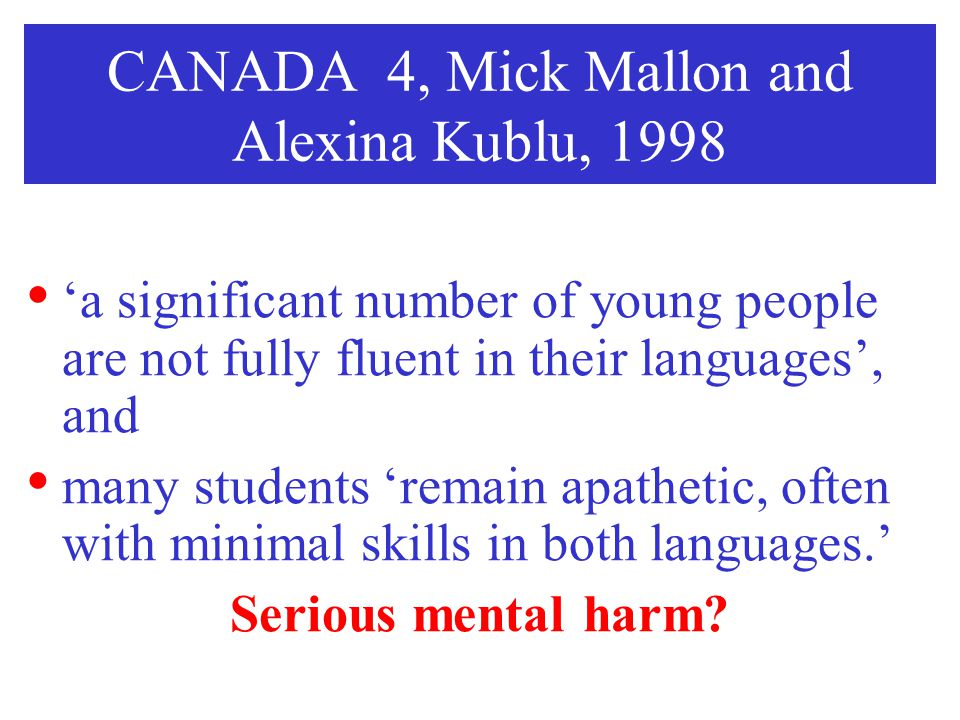 CANADA 4, Mick Mallon and Alexina Kublu, 1998