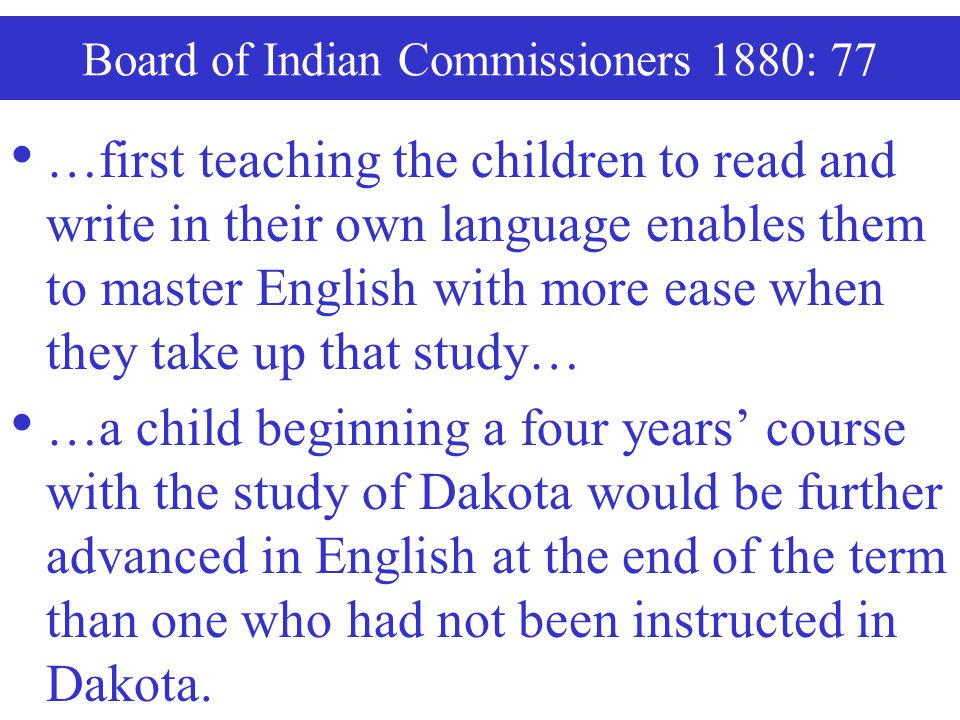 Board of Indian Commissioners 1880: 77