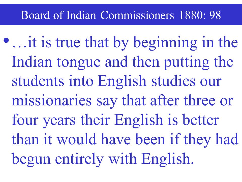 Board of Indian Commissioners 1880: 98