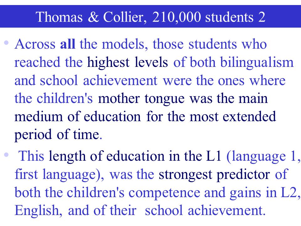 Thomas & Collier, 210,000 students 2