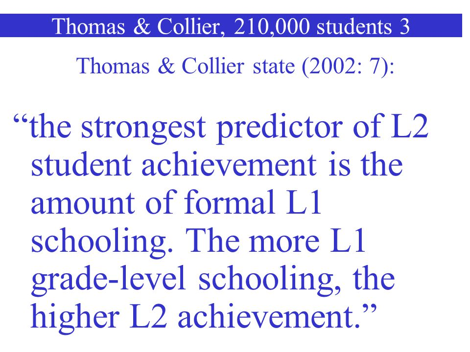Thomas & Collier, 210,000 students 3