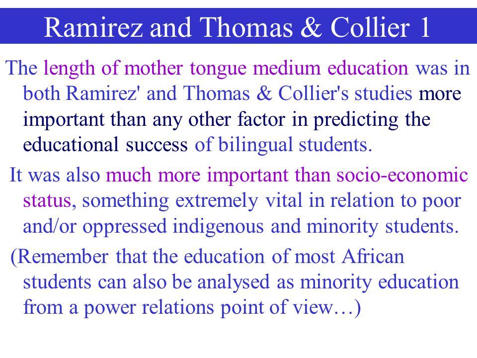 Ramirez and Thomas & Collier 1