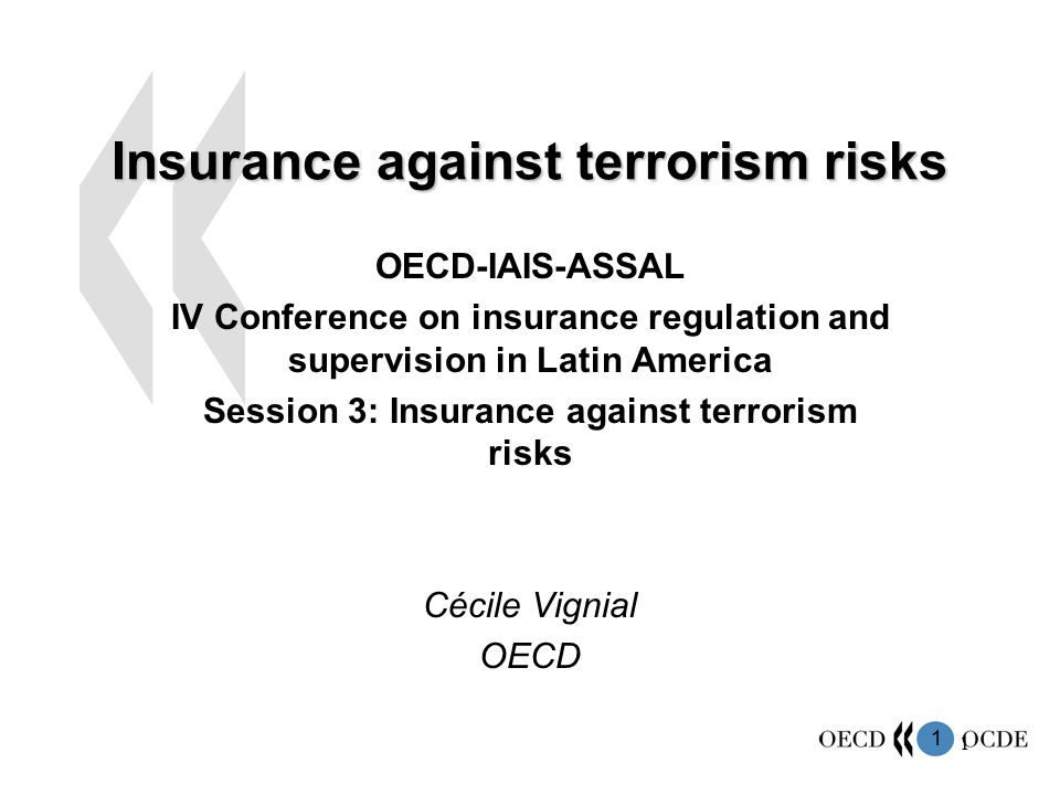 Insurance against terrorism risks