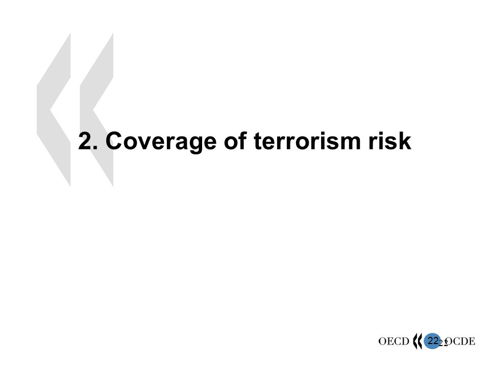 2. Coverage of terrorism risk