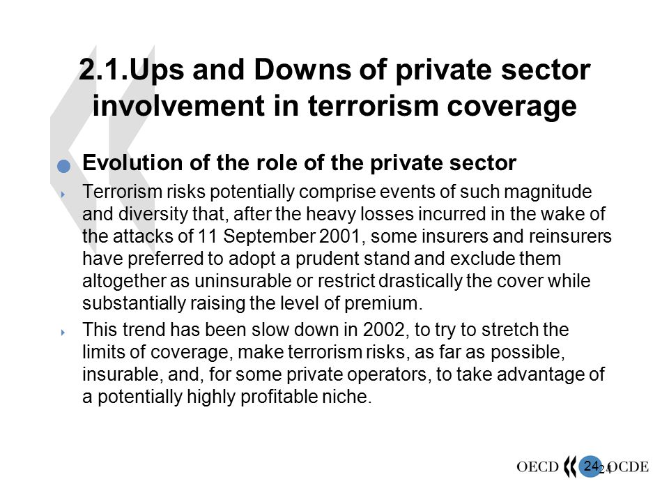 2.1.Ups and Downs of private sector involvement in terrorism coverage