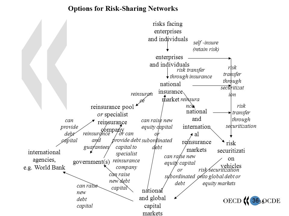 Options for Risk-Sharing Networks