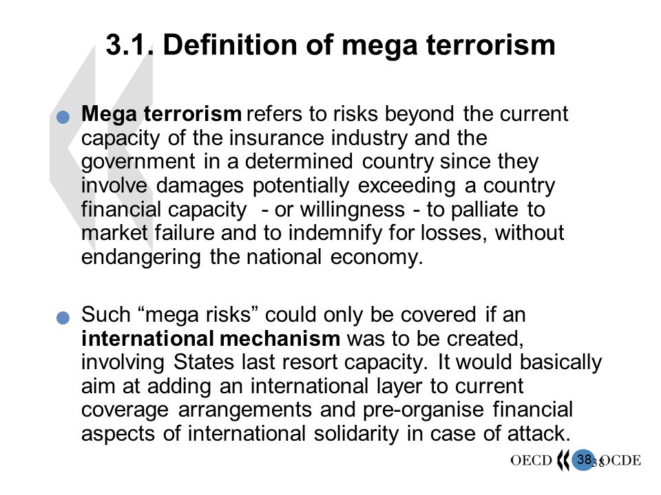 3.1. Definition of mega terrorism