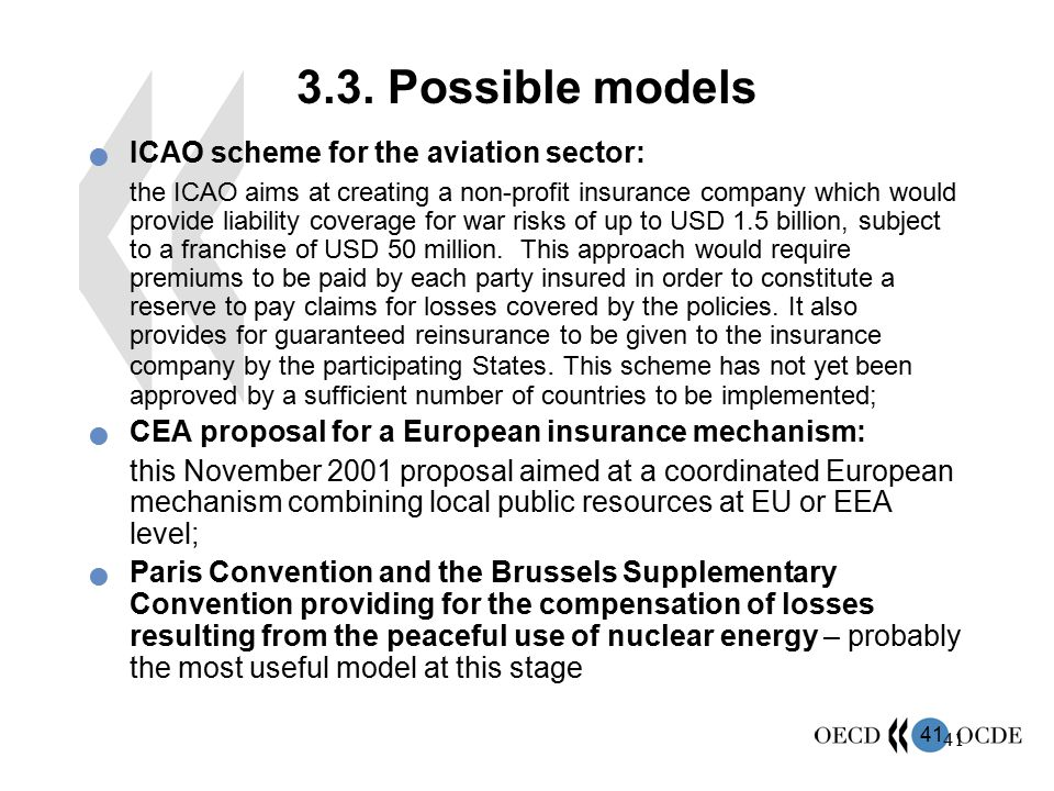 3.3. Possible models ICAO scheme for the aviation sector: