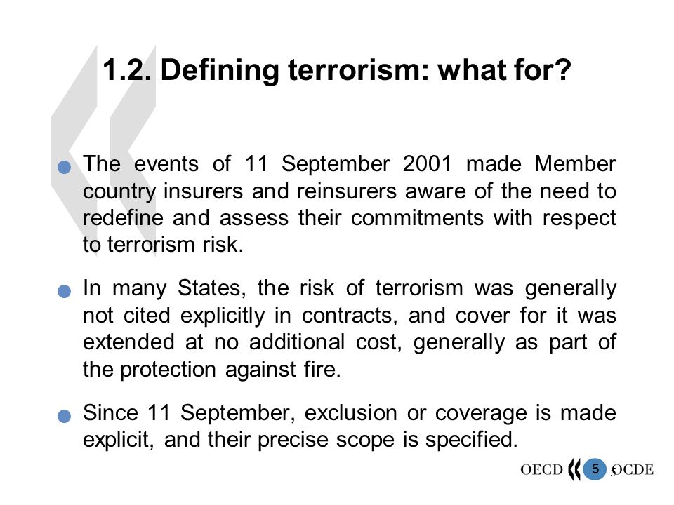 1.2. Defining terrorism: what for