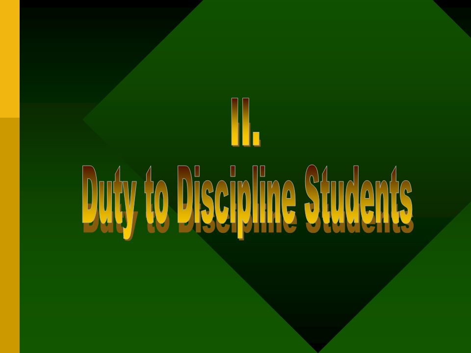 Duty to Discipline Students