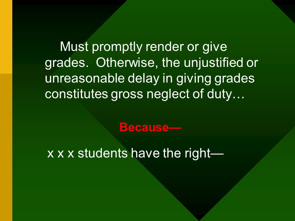 x x x students have the right—
