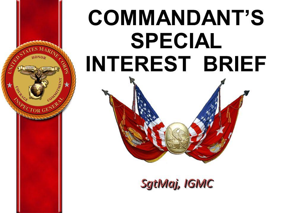 COMMANDANT'S SPECIAL INTEREST BRIEF
